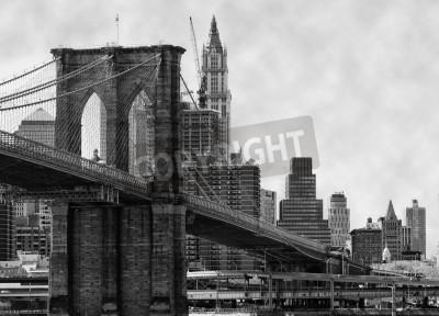 Plakat Brooklyn Bridge New York i East River