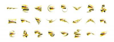 Brunei flag, vector illustration on a white background