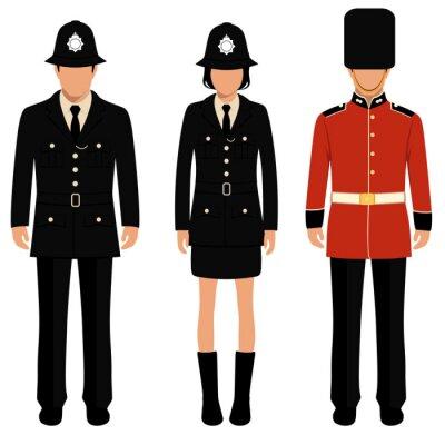 Plakat Brytyjski strażnik, Anglicy, uk policjant