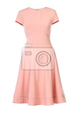 Plakat Brzoskwiniowa suknia odizolowywająca na bielu