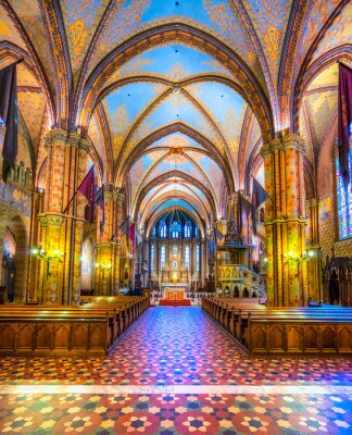 Plakat Budapeszt, Katedra Mathias, Węgry
