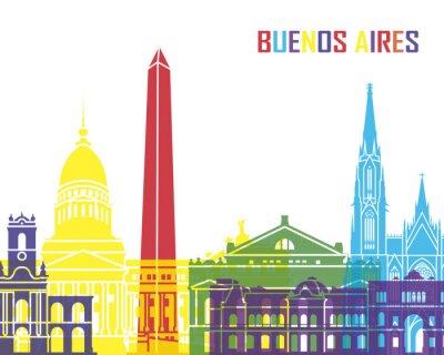 Plakat Buenos Aires skyline pop