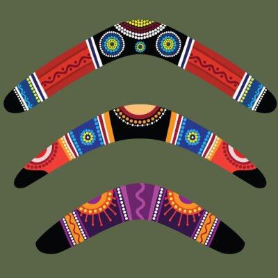 Plakat Bumerang z aborygenów projektowania