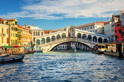 Plakat Canal Grande i Most Rialto, Wenecja, Włochy
