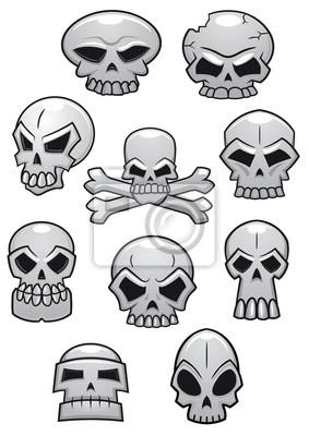 Cartoon Halloween czaszki