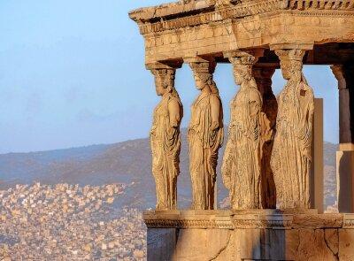 Plakat Caryatides, Akropol w Atenach