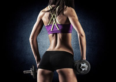 Plakat Centrum sportowy kobieta w treningu