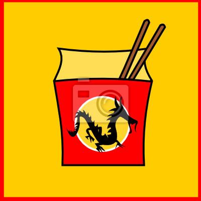 Plakat Chiński fastfood restauracja logo