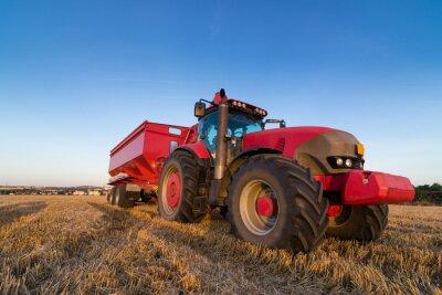 Plakat Ciągnik rolniczy z przyczepą