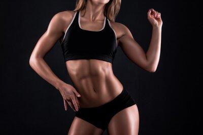 Plakat Ciało dziewczyna fitness