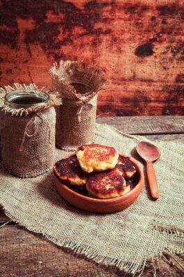 Plakat ciasta domowej roboty ser