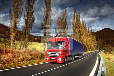 Ciężarówka na drodze