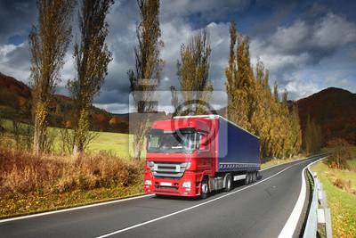 Ciężarówka nalot krajobraz