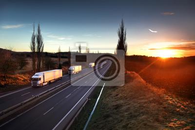 Ciężarówki na drogach