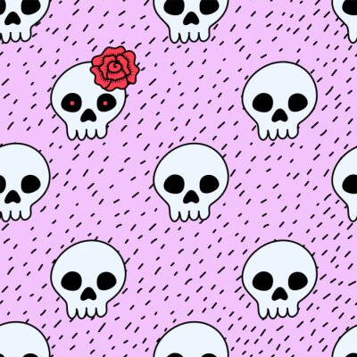 Plakat Cinco de Mayo holiday seamless pattern with skulls