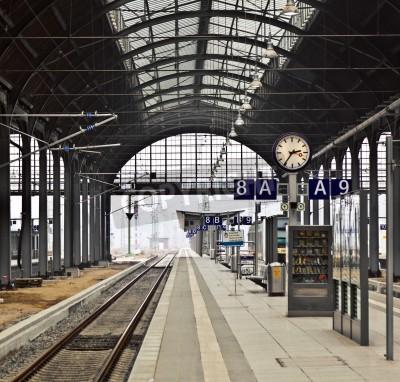 Plakat classicistical dworzec kolejowy w Wiesbaden, Niemcy