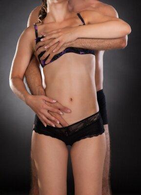 Plakat Close-up z intymnej para