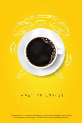 Plakat Coffee Poster Advertisement Flayers Vector Illustration