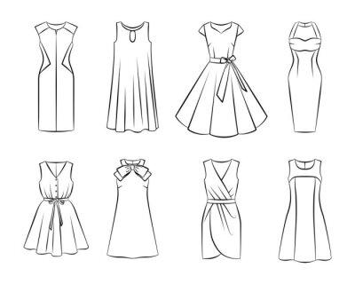 Plakat Collection of woman fashion dress