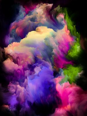 Plakat Colorful Cloud Abstraction