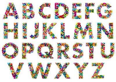 Plakat Colorful upper case alphabet letters
