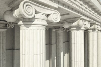 Plakat Columns. ionic order.