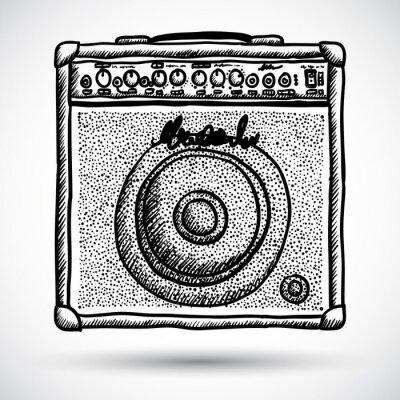 Plakat Combo Wzmacniacz gitarowy ilustracji wektorowych