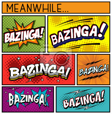 Plakat Comic Book Collection-Bazinga