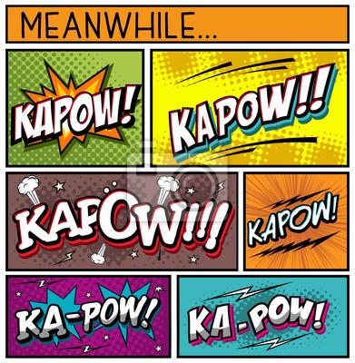 Plakat Comic Book Collection-kapow