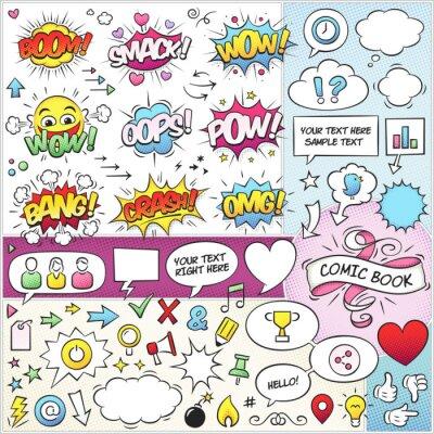 Plakat Comic Book Vector Pack Elements