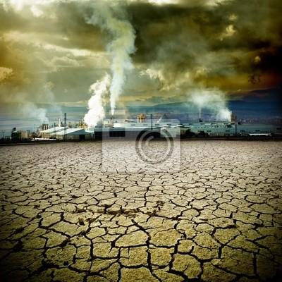 concepto de contaminación y medioambiente