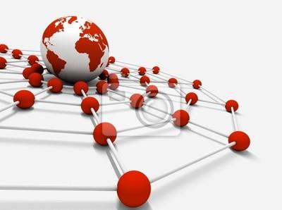 concepto de internet y negocio en red