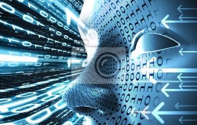 concepto de tecnologia con Codigo Binario