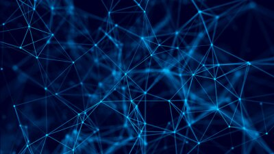 Connection background with dots and lines. Big data. Network connection structure. 3D rendering.