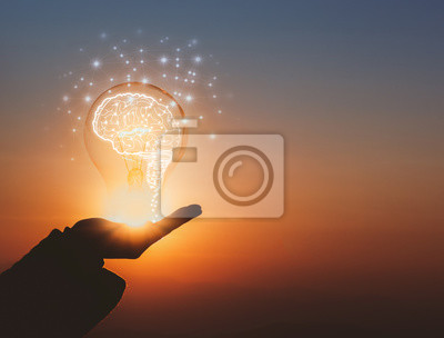 Plakat creative idea.Concept of idea and innovation