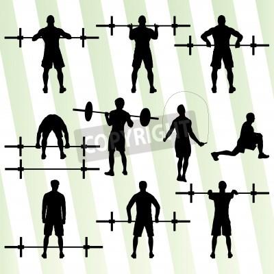 Plakat Crossfit szkolenia z koncepcją wagi wektora tła dla plakatu