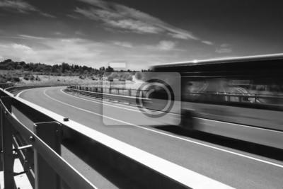 Crossing above motorway