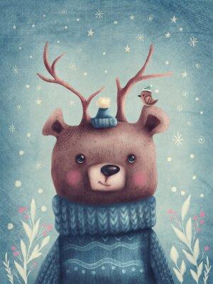 Plakat Cute brown bear