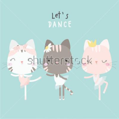 Plakat cute cat dance