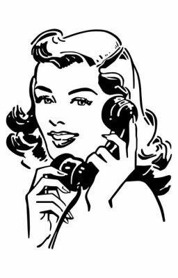 Plakat Cute Gal On The Phone