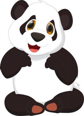Plakat Cute Panda cartoon