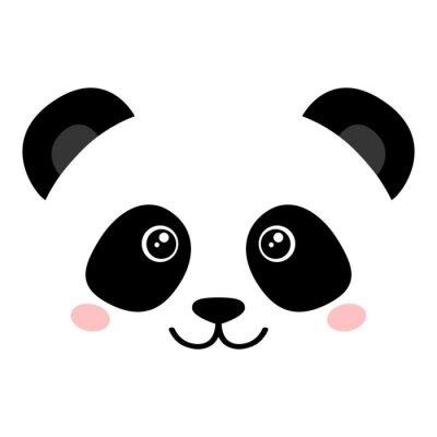 Plakat Cute panda face