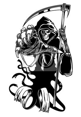 Czarna śmierć z kosą