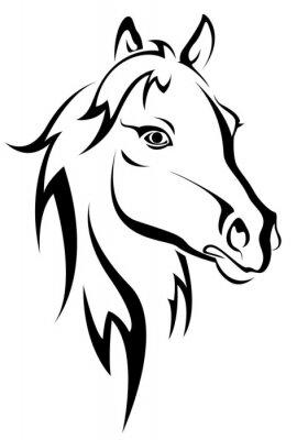 Czarna sylwetka konia