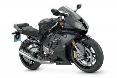 Plakat Czarny sportowy motocykl
