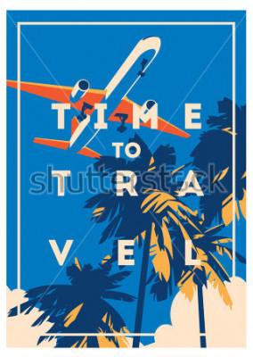 Plakat Czas na podróż i plakat z wakacji.