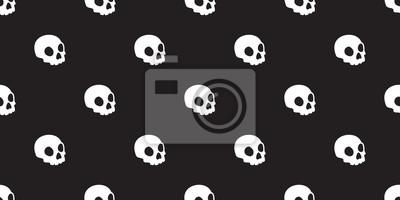 Czaszka bez szwu Halloween samodzielnie szkielet szkielet Ghost ikonę tapety tła
