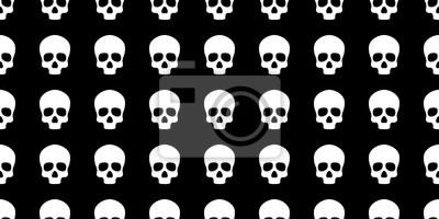 Czaszka bez szwu wzór Halloween kości piszczelami Duch szalik odizolowane powtórzyć tapety dachówka tle
