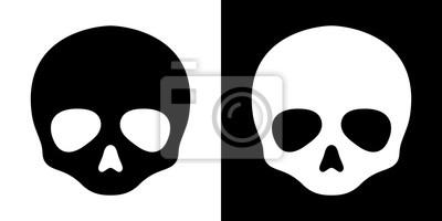 Czaszka crossbone wektor ikona Halloween pirat duch logo symbol graficzny ilustracja