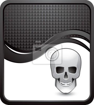 czaszka czarna fala w kratkę